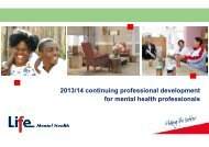 2013/14 continuing professional development for ... - Life Healthcare