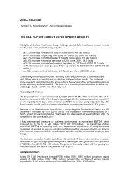 Media Statement - 17 November 2011 - Life Healthcare