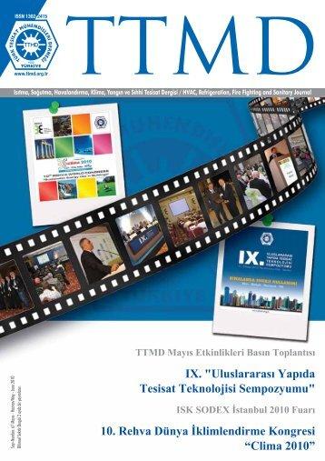 """IX. """"Uluslararası Yapıda Tesisat Teknolojisi Sempozyumu"""" 10 - TTMD"""