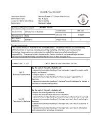 COURSE INFORMATION SHEET - MPSJ.ca