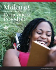 Making Post-Secondary Education Possible - Scholarship America