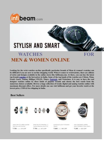 Stylish and Smart Watches for Men & Women Online