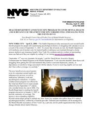 new york city department of health and - Voices of September 11th