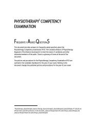 Frequently Asked Questions - Canadian Alliance of Physiotherapy ...