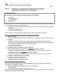 Form C - Declaration of Identity Form - Canadian Alliance of ...