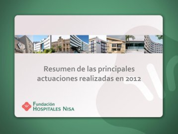 Informe 2012 - Hospitales Nisa