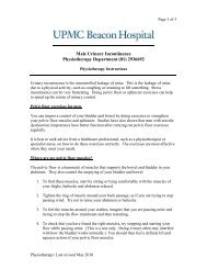 Pelvic Floor Rehabilitation - Male - UPMC Beacon Hospital