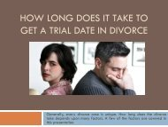 How Long Does It Take To Get A Trial Date In Divorce