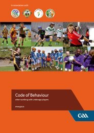 GAA Code of Behaviour - 2nd Edition