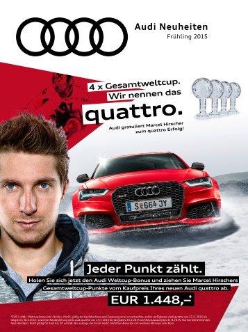 Audi Neuheiten Frühling 2015