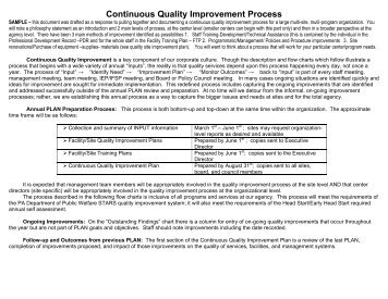 Continuous Quality Improvement Process - Dhpescu.org
