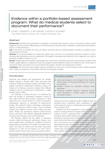 evidence-within-a-portfolio-based-essment-program-dhpescuorg Application Portfolio Essment Template on