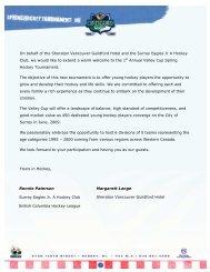 On behalf of the Sheraton Vancouver Guildford ... - esportsdesk.com