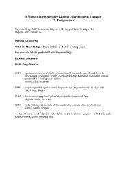 A Magyar Infektológiai és Klinikai Mikrobiológiai Társaság 37 ...