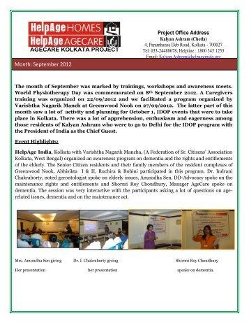 Kolkatta - Helpage India Programme