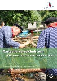 Gastgeberverzeichnis 2011 1 - Tourismus - Lychen