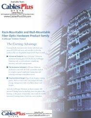 Rack-Mountable and Wall-Mountable Fiber Optic ... - Cables Plus USA