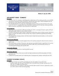 Week of: July 20, 2009 2009 MARKET VIEWS − SUMMARY - US Bank