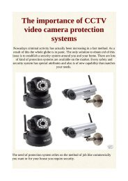 The importance of CCTV video camera protection systems