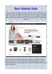 Best Website Style