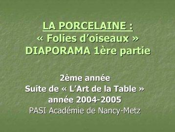 LA PORCELAINE - Académie de Nancy-Metz