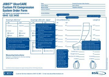JOBST® UlcerCARE Custom Fit Compression ... - BSN medical
