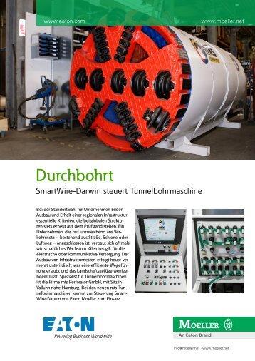 Durchbohrt - SmartWire-Darwin steuert Tunnelbohrmaschine - Moeller