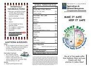 Food Safety Brochure - Statewide Master Gardener Program