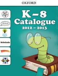 view our 2013 Grades K–8 Catalogue - Oxford University Press