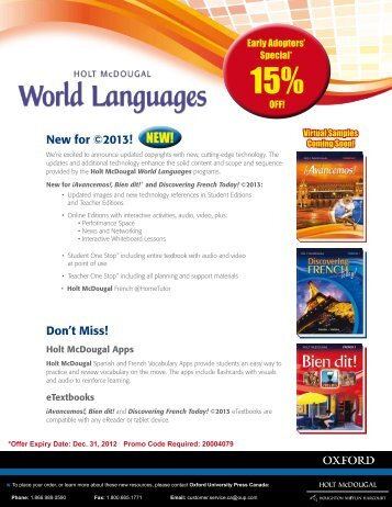 HM.World.Languages.Special.Flyer - Oxford University Press