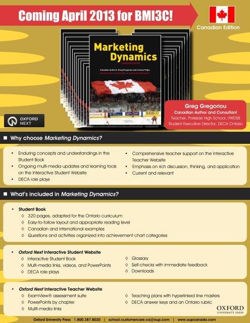 Marketing Dynamics Flyer_ON_2013 pdf - Oxford University Press