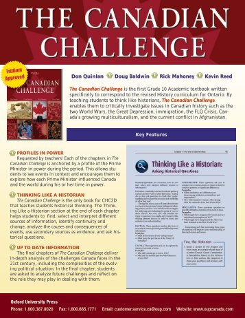 Canadian Challenge flyer - Oxford University Press