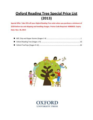 Oxford Reading Tree Special Price List - Oxford University Press