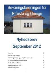 September 2012 - Bevaringsforeningen for Præstø og omegn