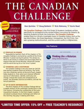 Canadian Challenge Special Order Form - Oxford University Press ...