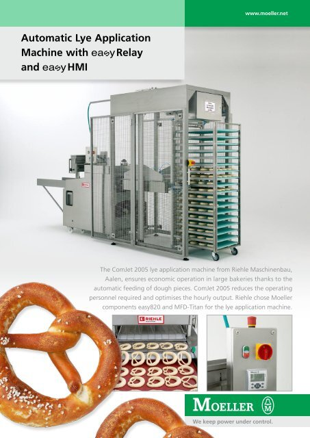 Automatic Lye Application  Machine with Relay and HMI - Moeller