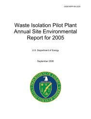 WIPP Annual Site Environmental Report 2005 - Waste Isolation Pilot ...