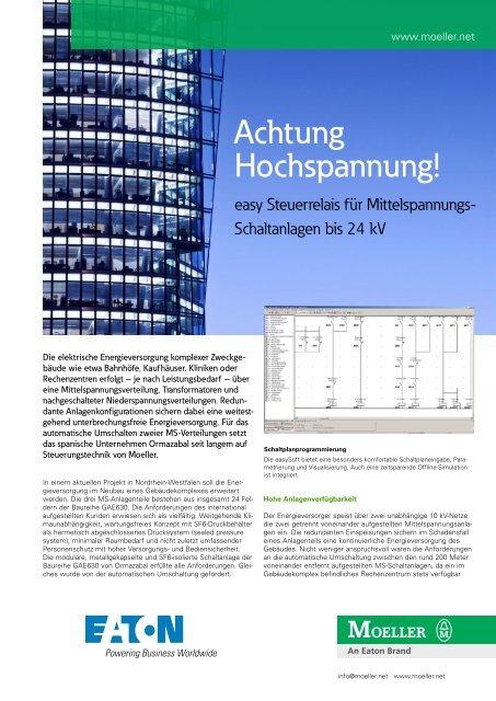 easy Steuerrelais für Mittelspannungs-Schaltanlagen bis ... - Moeller