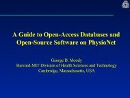 A Guide to Open-Access Databases and Open-Source ... - PhysioNet