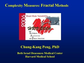 Fractal Methods - PhysioNet