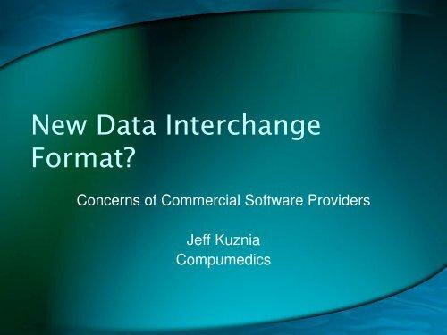 New Data Interchange Format? - PhysioNet