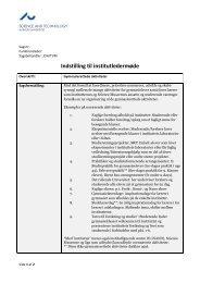 Indstilling til institutledermøde - Science and Technology - Aarhus ...