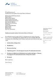 Til medlemmerne af Studienævnet for Aarhus University School of ...