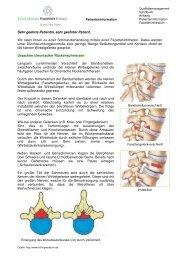 Facetteninfiltration - Schmerztherapie Praxisklinik Breisach