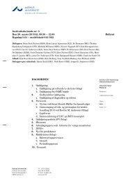 AARHUS UNIVERSITET Referat DAGSORDEN 1. Opfølgning a ...