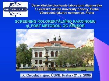 FOBT METODOU OC-SENSOR - Dialab
