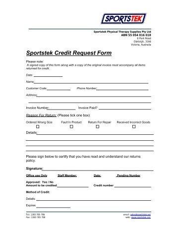 credit request form tattersalls
