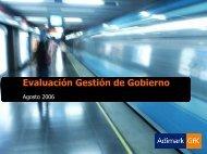 Evaluación Gestión de Gobierno