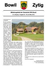 Bowil-Zytig Nr. 142 vom März 2010 - Gemeinde Bowil