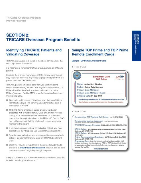 Section 2 Tricare Overseas Program Benefits